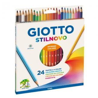 Giotto Stilnovo 255800 - Lápices de colores acuarelables, caja de 24 colores