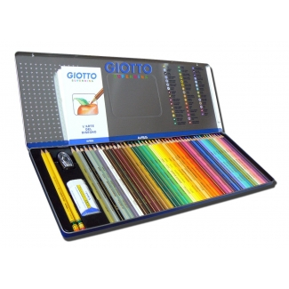 Lápices de colores Giotto supermina caja metálica 50 colores minas 3,8 mm