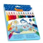 Jovi Maxi 735/12 - Lápices de colores, caja de 12 colores