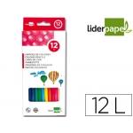 Lapices de colores Liderpapel caja de 12 colores