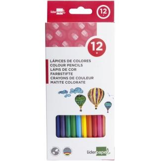 Liderpapel LC01 - Lápices de colores, caja de 12 colores