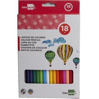 Liderpapel LC03 - Lápices de colores, caja de 18 colores