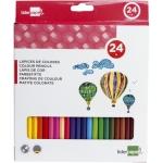 Lapices de colores Liderpapel caja de 24 colores