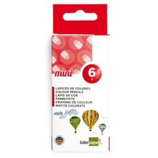 Liderpapel LC10 - Lápices de colores, mini, caja de 6 colores