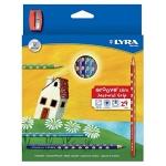 Lapices de colores Lyra groove slim triangular minas de 3,3 mm caja de 24 colores + sacapuntas