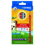 Lyra Groove 3811100 - Lápices de colores, caja de 5 colores