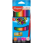 Lapices de colores Maped 183212 triangulares caja de 12unid