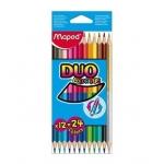 Lapices de colores Maped color peps duo bicolor caja 12