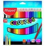 Lapices de colores Maped triangulares caja de 24 colores
