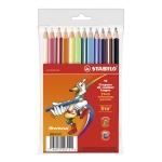 Lapices de colores Stabilo trio caja de 12 colores