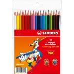 Stabilo Trio 203/18-01 - Lápices de colores, caja de 18 colores