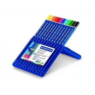 Staedtler Ergosoft 156SB12 - Lápices de colores acuarelables, caja de 12 colores