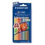 Lapices de colores Staedtler noris club caja de 10 colores triplus + afilalapiz