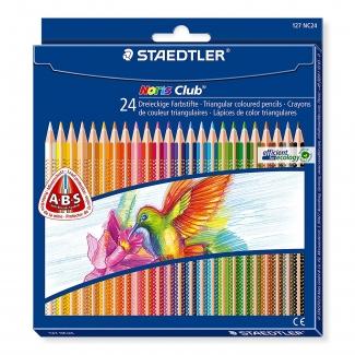 Staedtler Noris Club Slim 187C24 - Lápices de colores, caja de 24 colores