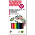 Liderpapel LC09 - Lápices de colores acuarelables, caja de 12 colores