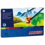 Alpino Masats AL000005 - Lápices de colores acuarelables, caja metálica de 36 colores