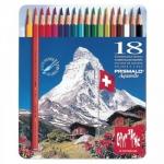 Caran d'Ache Prismalo Aquarelle CD999-318 - Lápices de colores acuarelables, caja metálica de 18 colores