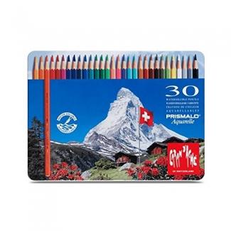 Caran dAche Prismalo Aquarelle CD999-330 - Lápices de colores acuarelables, caja metálica de 30 colores