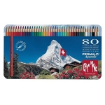 Caran dAche Prismalo Aquarelle CD999-380 - Lápices de colores acuarelables, caja metálica de 80 colores