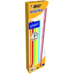 Bic Evolution Stripes 918487 - Lapiz de grafito, HB, caja de 12 lápices