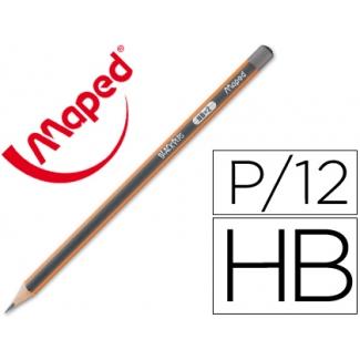 Lápices de grafito HB blackpeps Maped