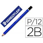 Lapices de grafito Staedtler mars ergosoft jumbo 2B caja de 12 lapices