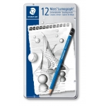 Lapices de grafito straedtler mars lumograph 100 caja metálica de 12 lapices 8b-