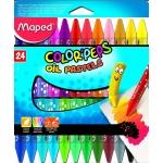 Maped Color Peps 864012 - Ceras de colores, caja de 24 colores