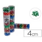 Lazos Liderpapel fantasía pequeño colores metalizados surtidos tubo 12