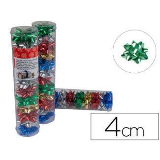Liderpapel LZ05 - Lazo para regalo, tamaño pequeño, colores surtidos metalizados