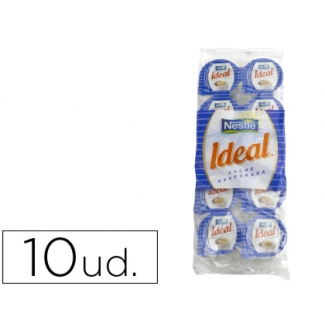 Leche evaporada ideal porciones de 7,5 envase de 10 unidades