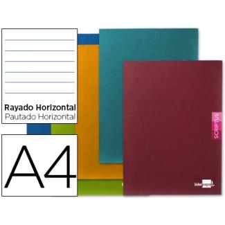 Libreta Liderpapel scriptus tamaño A4 48 hojas 90 gr/m2 horizontal con margen