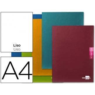 Liderpapel Scriptus LB31 - Libreta grapada, tamaño A4, tapa blanda, 48 hojas de 90 gr, liso, sin margen, colores surtidos