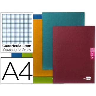 Libreta Liderpapel scriptus tamaño A4 48 hojas 90 gr/m2 milimetrado sin margen