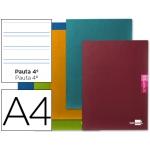 Libreta Liderpapel scriptus tamaño A4 48 hojas 90 gr/m2 pauta 4ª 3.5 mm con margen