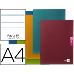 Libreta Liderpapel scriptus tamaño A4 48 hojas 90 gr/m2 pauta 5ª 2.5 mm con margen