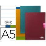 Libreta Liderpapel scriptus tamaño A5+ 48 hojas 90 gr/m2 pauta 5ª 2,5 mm con margen