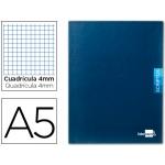 Libreta Liderpapel scriptus tamaño A5 48 hojas 90 gr/m2 cuadrícula de 4 mm con margen color azul