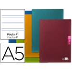 Libreta Liderpapel scriptus tamaño A5 plus 48 hojas 90 gr/m2 pauta 4ª3.5 mm con margen