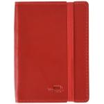 Liderpapel LG07 - Libreta encolada, tapa símil piel, tamaño A7, 120 hojas de 70 gr, rayado horizontal, sin margen, color rojo