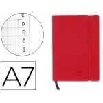 Libreta Liderpapel simil piel A6 120 hojas 70 gr/m2 índice rojo