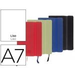 Libreta Liderpapel simil piel A6 120 hojas 70 gr/m2 liso colores surtidos