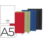 Libreta Liderpapel simil piel tamaño A5 120 hojas 70 gr/m2 liso colores surtidos