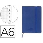 Libreta Liderpapel simil piel tamaño A6 120 hojas 70 gr/m2 índice azul
