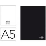 Libreta Liderpapel tapa negra tamaño A5 80 hojas 60 gr/m2 liso con margen