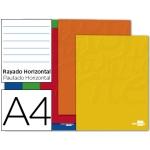 Libreta Liderpapel write tamaño A4 80 hojas 60 gr/m2 horizontal con margen
