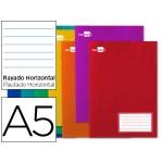 Libreta Liderpapel write tamaño A5 16 hojas 60gcuadricula de horizontal con margen