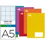 Libreta Liderpapel write tamaño A5 32 hojas 60 gr/m2 rayado Nº 46 colores surtidos