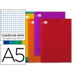 Libreta Liderpapel write tamaño A5 80 hojas 60 gr/m2 cuadrícula de 4 mm con margen