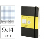 Libreta Moleskine tapa blanda cuadrícula de 5 mm 192 hojas color negro cierre con goma 90x140 mm